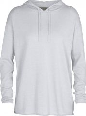 W Flaxen Long Sleeve Hooded Pullover Sweater
