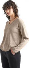 W Flaxen Long Sleeve V Sweater