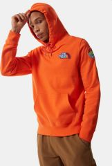 Mens Novelty Patch Pullover Hoodie